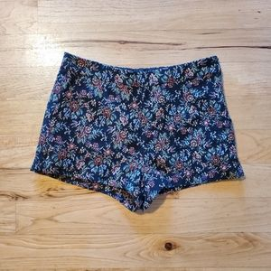 Retro Forever 21 floral lined shorts
